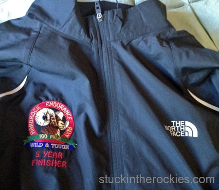 hardrock 100 5 time finishers jacket