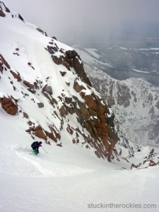 Y Couloir, pikes peak ski descent
