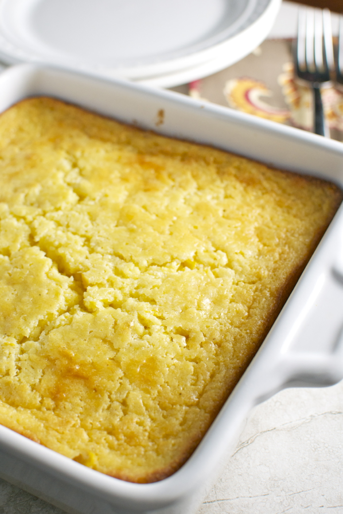 Corn Casserole - perfect for a Thanksgiving side dish