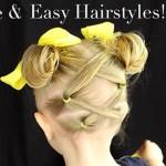 Criss Cross Hair into Messy Buns