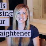 Curling your hair using a straightener