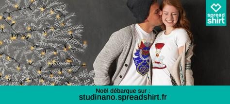 Pour les fêtes, rendez-vous sur la boutique Spreadshirt de Studinano !