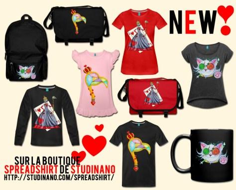 Des nouveautés sur la boutique Spreadshirt de Studinano ! On peut dire que j'y ai mis du cœur ;) http://www.studinano.com/spreadshirt/