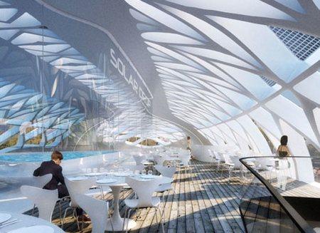 Représentation en 3D de l'intérieur du projet Anti-Smog par Vincent Callebaut.