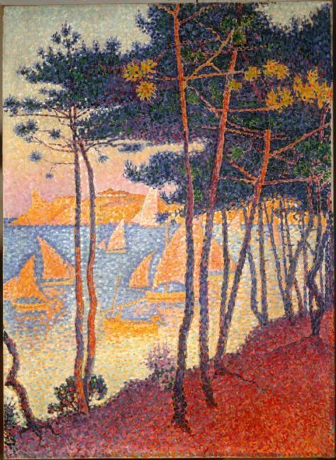 Voiles et Pins, Paul Signac (1863-1935) 1896 Huile sur toile 81 x 52 cm Collection particulière