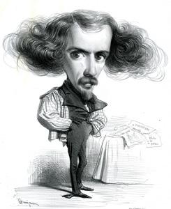 Caricature de Benjamin Roubaud représentant J.J. Grandville