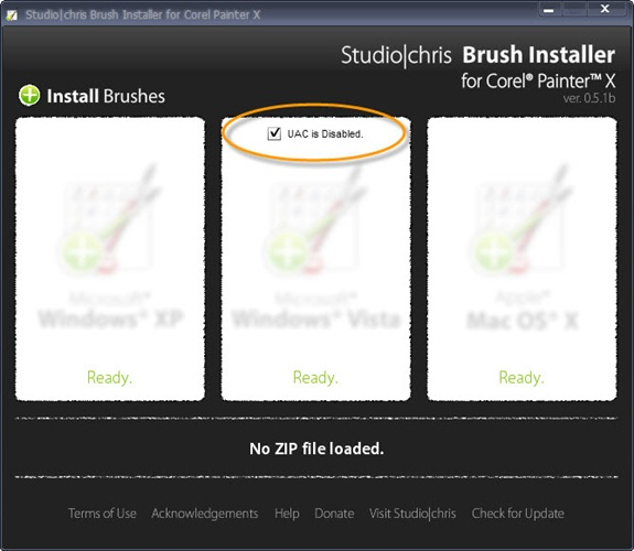 Studio|chris Brush Installer for Corel Painter X ver 0.5.1b