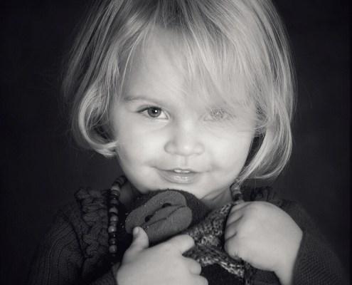 Kinderportret zwartwit