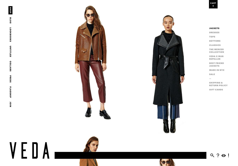 VEDA website designed by Scissor.