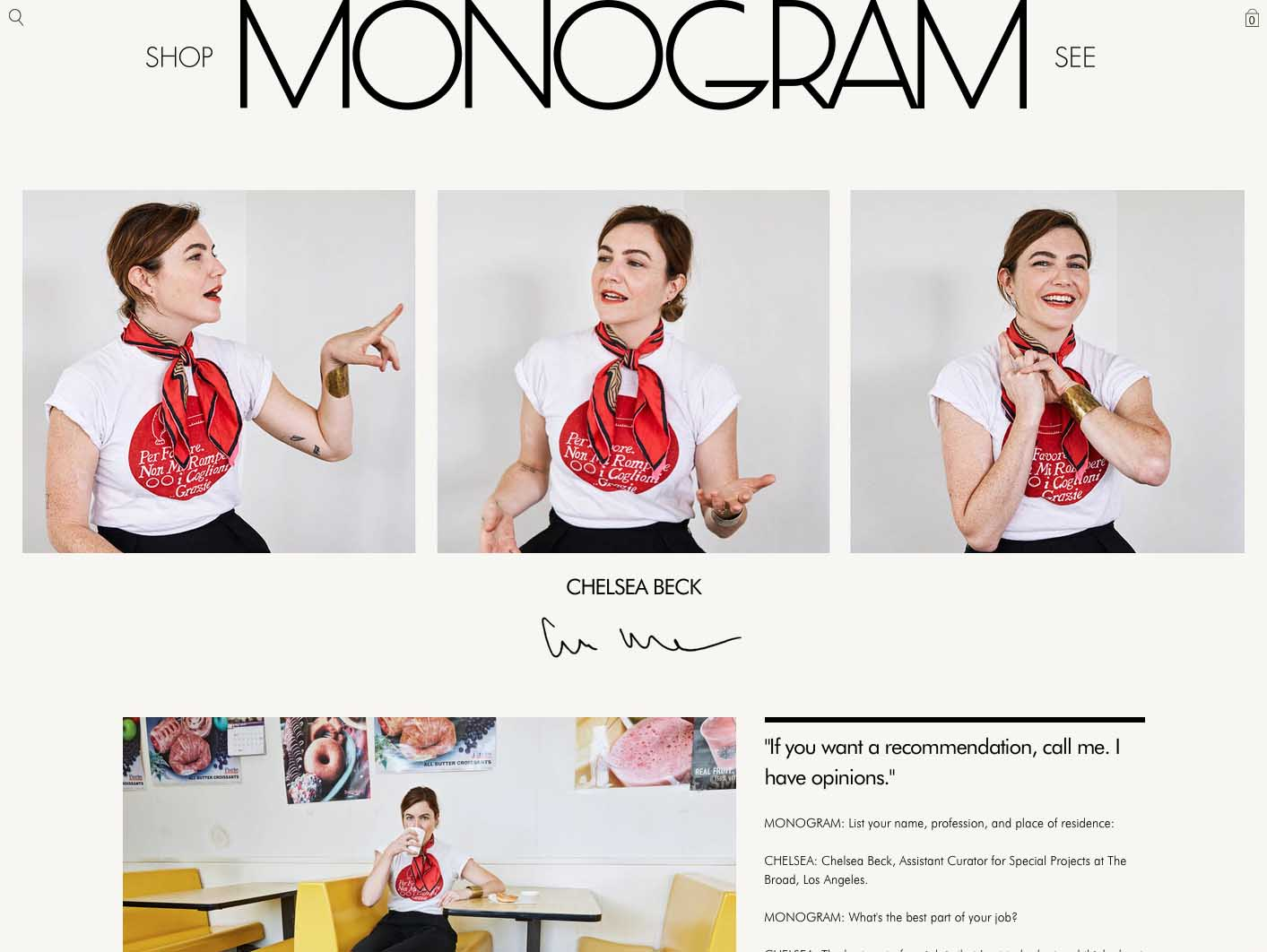 Monogram blog design by Scissor.
