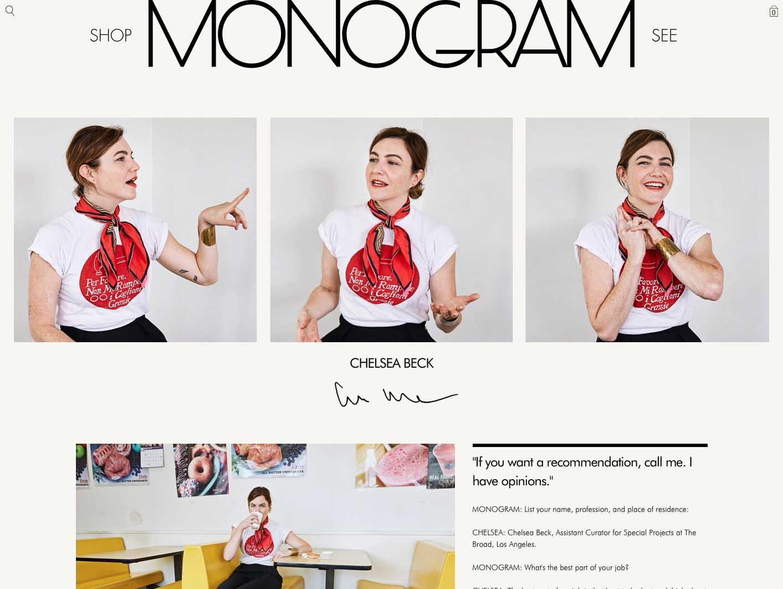 Monogram blog design by Scissor.