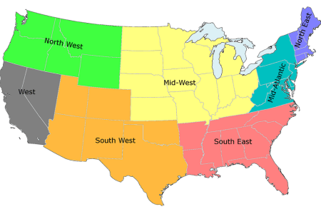 regions of the united states studying in us a guide