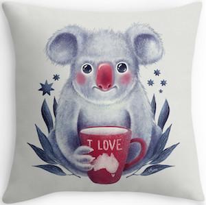 Koala Bear Throw Pillow