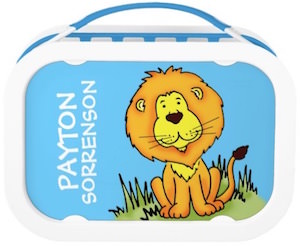 Personalized Lion Lunch Box