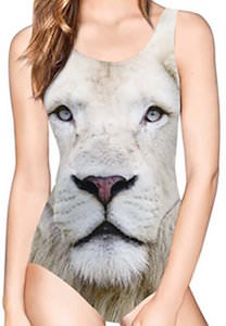 White Lion Bathing Suit For Women