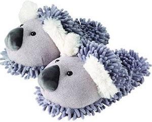 Women's Fuzzy Koala Slippers