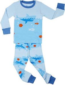 Kids Swimming Shark Pajamas