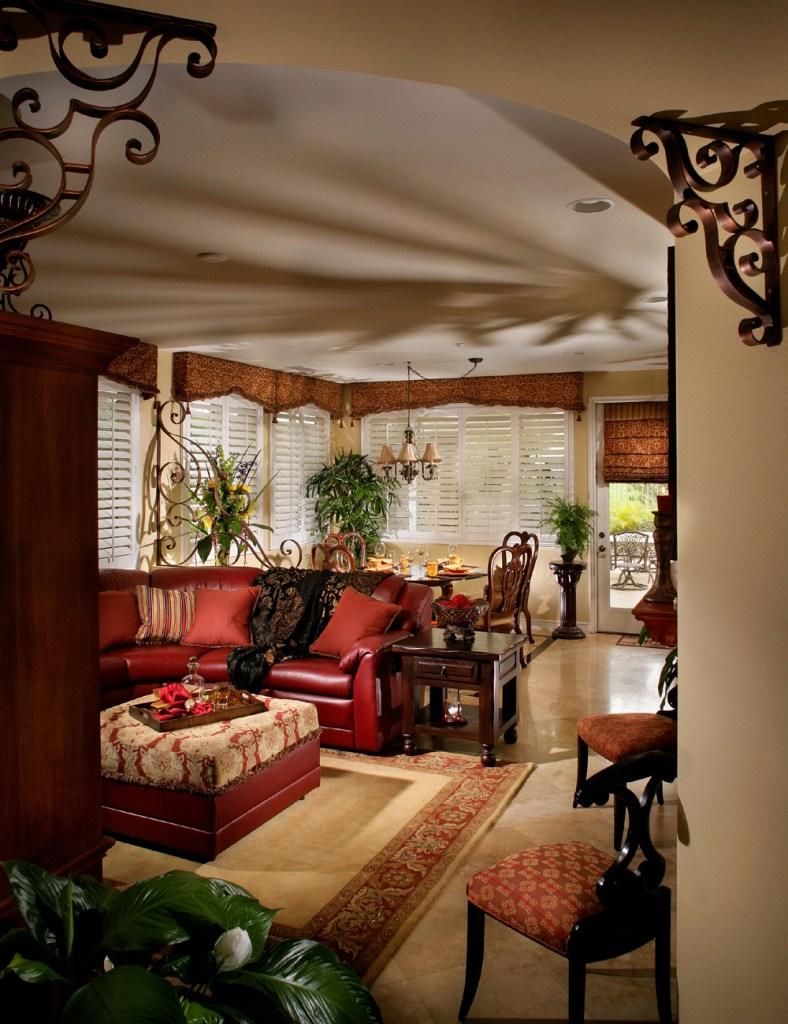 Family Room - Mediterranean, Old World, Tuscany Style