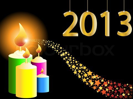 Beautiful Happy New Year 2013 in Different Styles