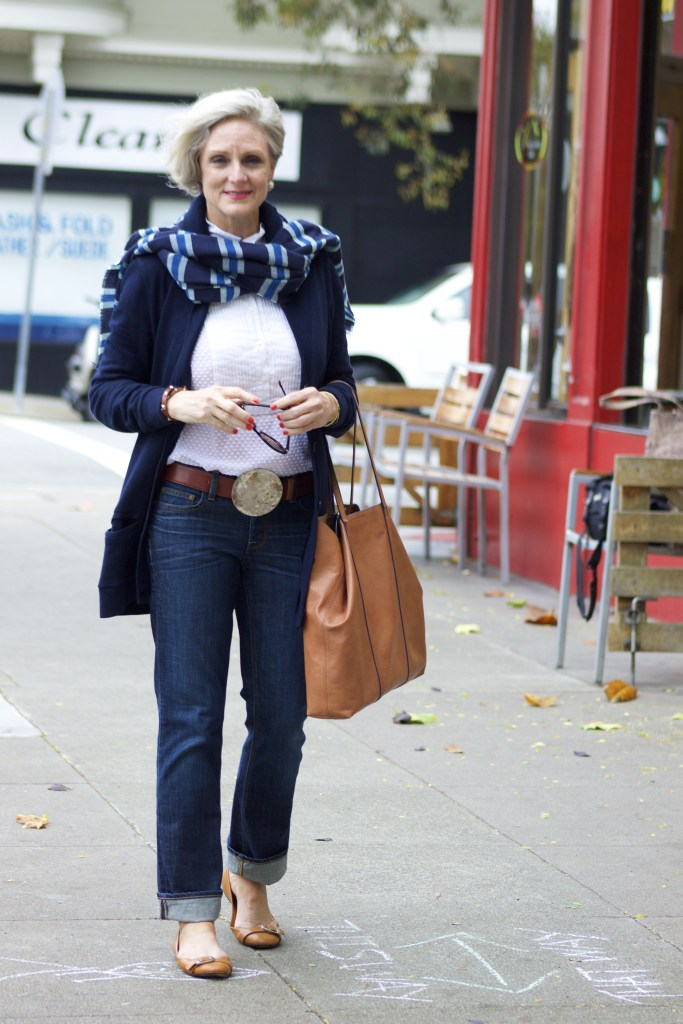 blue jeans and boyfriend sweater