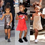 NORTH WEST IS KILLING IT IN SEQUINS AND SLIP DRESSES