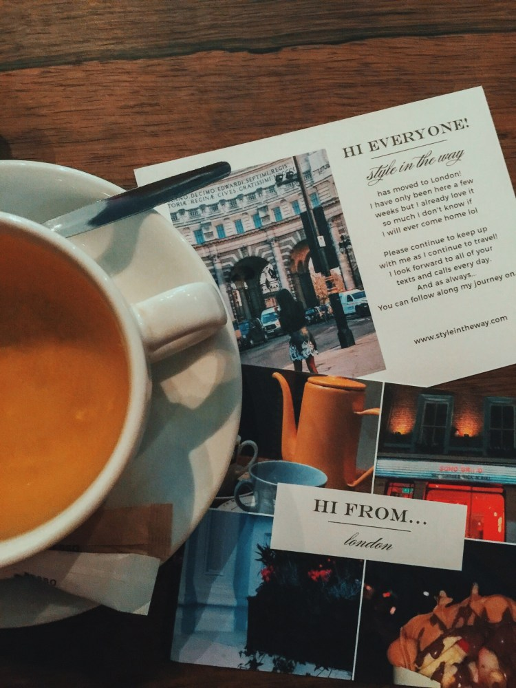 Tea and postcards with Basic Invite