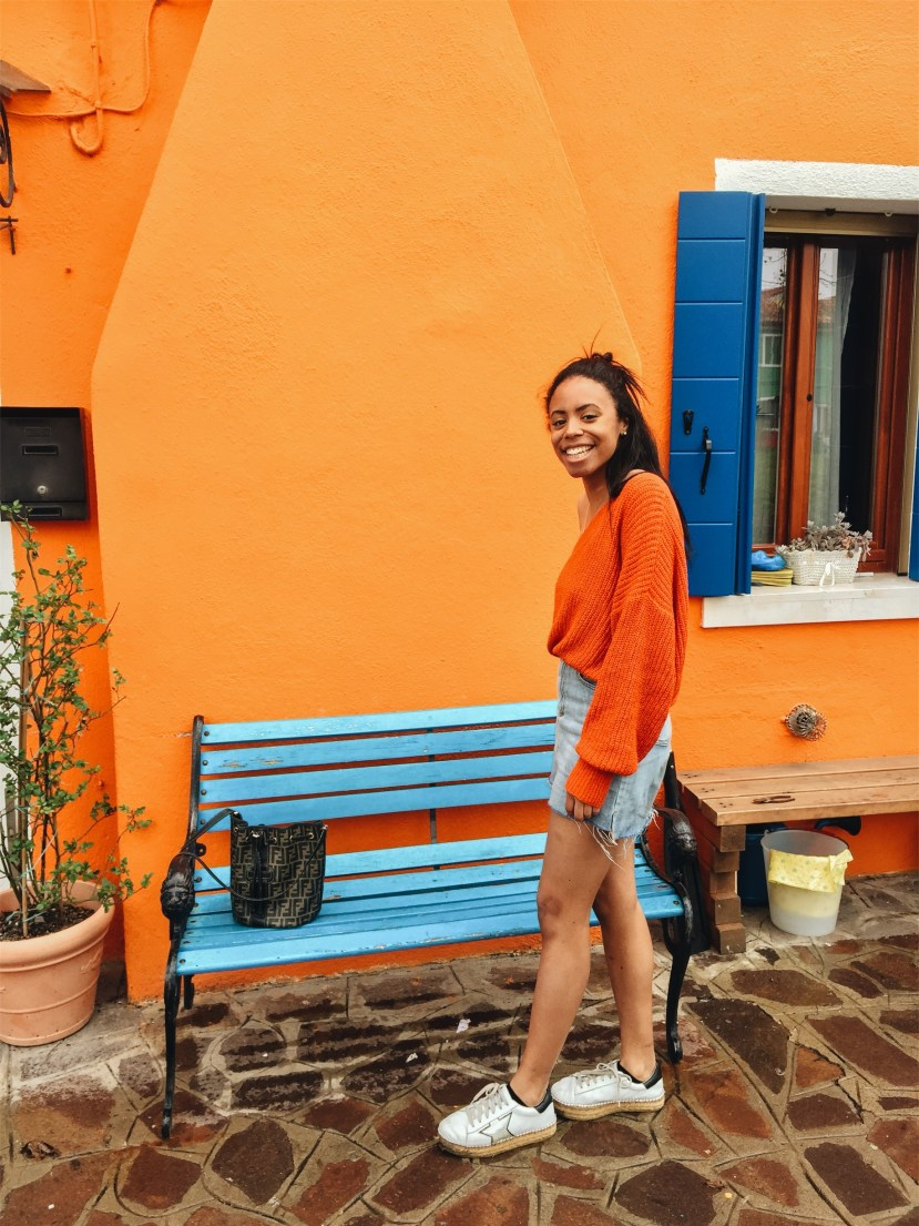 burano italy venice travel blog outfit zara knit