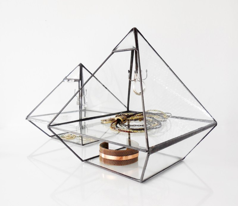Large Of Glass Jewelry Box