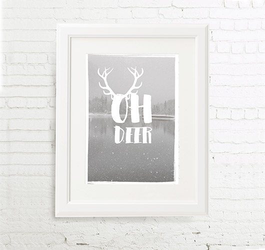 "Illustration ""Oh Deer"" von Maren Kruth"