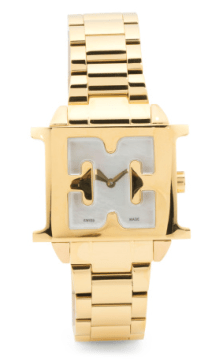Escada Women's Swiss Made Estelle Logo Case Bracelet Watch