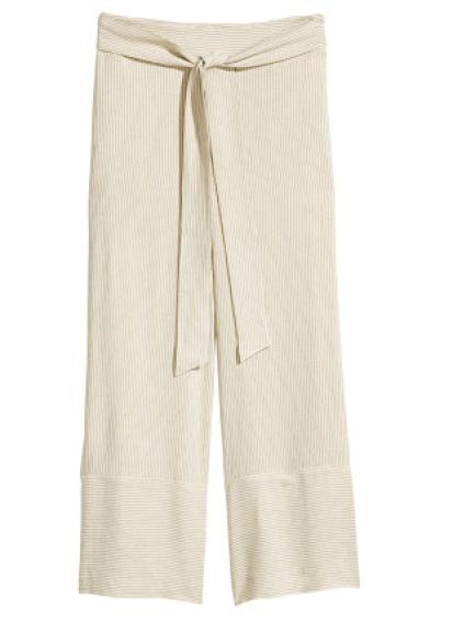 H&M Pinstripe Culotte Pants