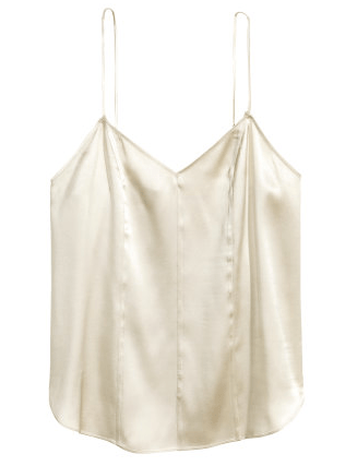Silk V-Neck Camisole Top