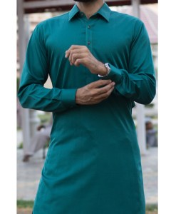 Shalwar Kameez Dark-Grey Cotton Shirt Collar