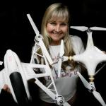 """Desiree Ekstein of Lake Elsinore, holds two of her drones and goes by the nickname """"Drone Diva Desi"""" because she has no fewer than 10 drones in Lake Elsinore. on Tuesday, Jan.05, 2016."""