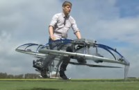 Look it's Friday, quite insane hover bike