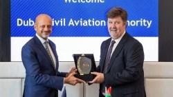 Dubai Multi Commodities Centre CEO Gautam Sashittal and aviation regulations and safety head Michael Rudolph