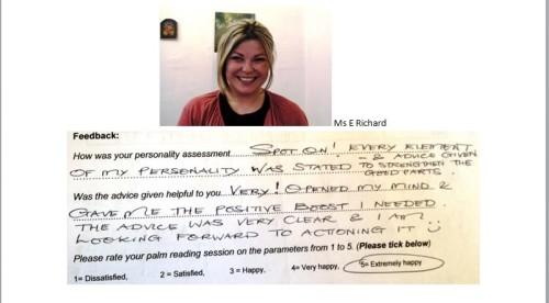 Palm reading feedback review 1 Subodh Gupta London