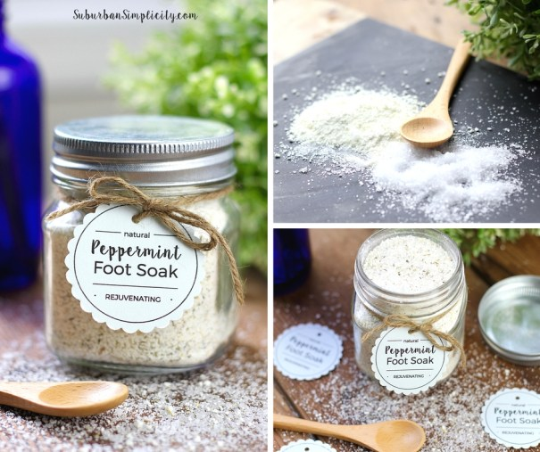 Easy Peppermint Foot Soak Natural Beauty Product DIYs