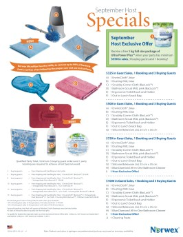 Norwex September Hostess Specials, Green Living, Reduced Chemicals, Green Cleaning