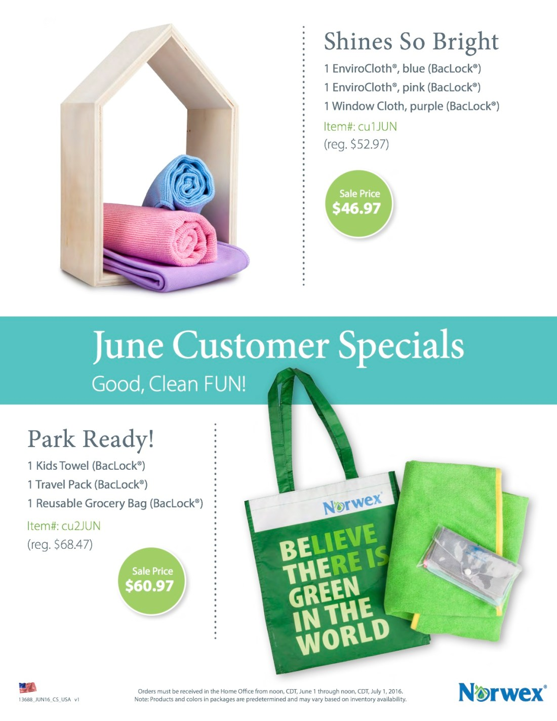 June 2016 Customer Specials