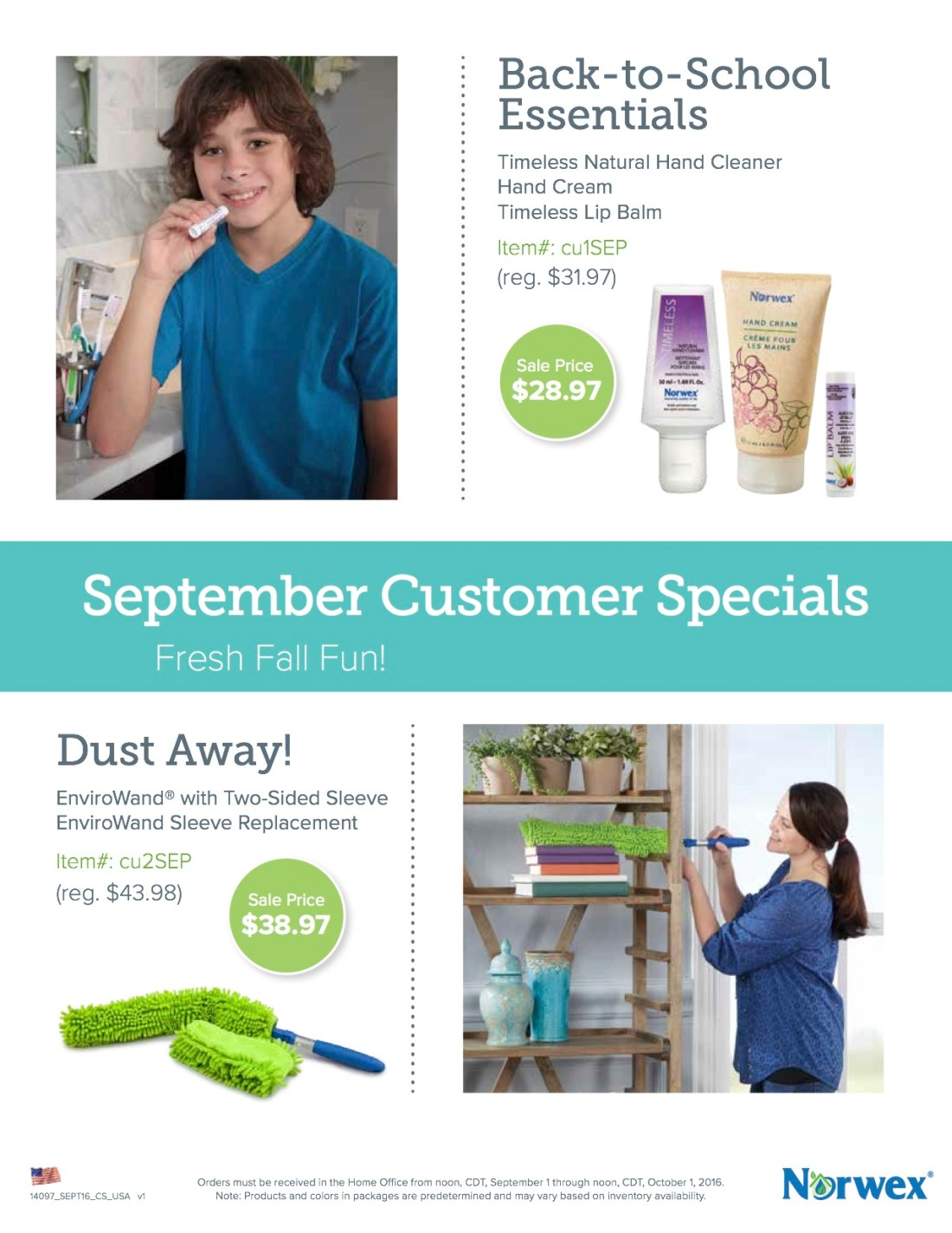 September Customer Specials