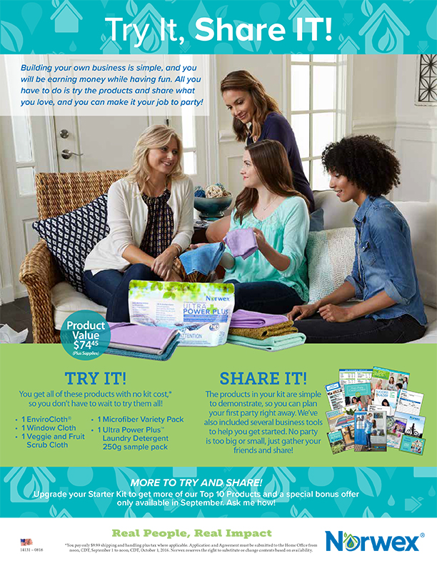 Try It Share It Norwex opportunity