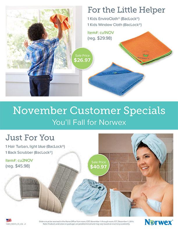 november customer specials