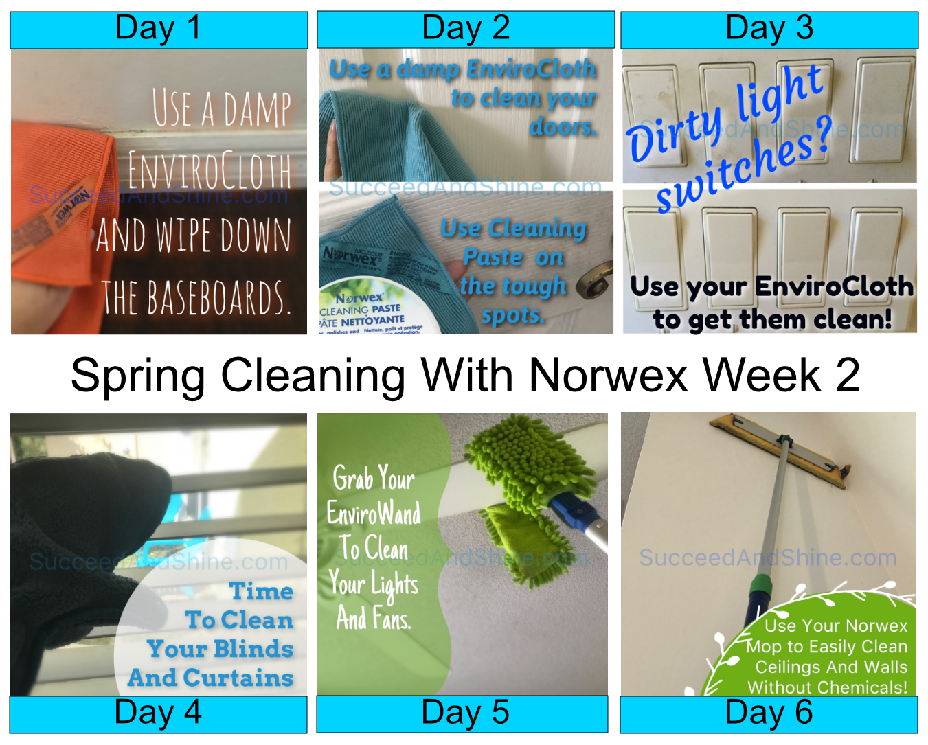 How To Use Norwex For Spring Cleaning Week 2 Succeed