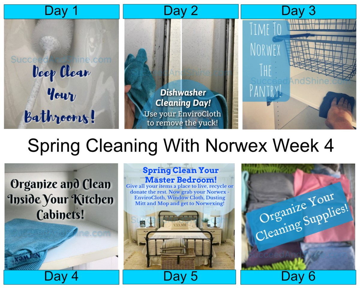How to use norwex for spring cleaning week 4 succeed What month is spring cleaning