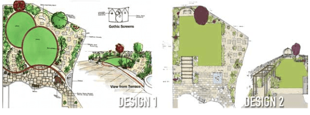Awkward shape garden design solutions – Case study