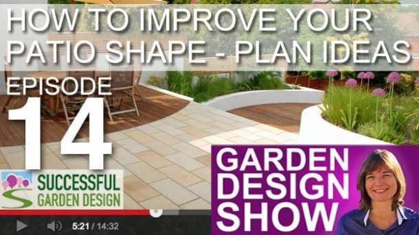 [DESIGN SHOW 14] Patio shapes that improve your garden