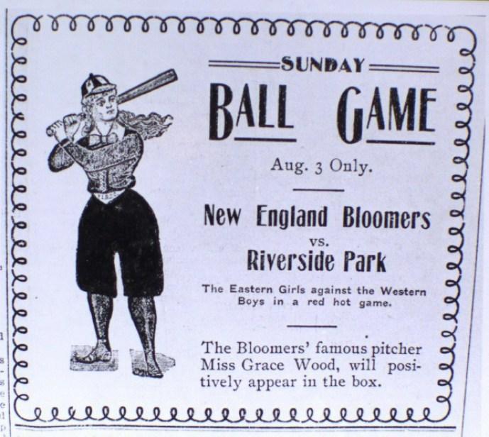 Baseball advertisement for Riverside Park, Boise, Idaho (1902)