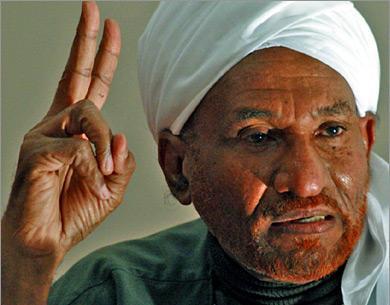 الصادق المهدي: نراعي الحساسيات بين مصر والسودان وسايقين يمين