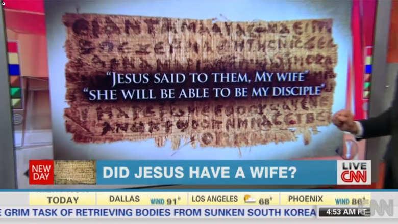 """بالصورة :وثيقة قبطية قديمة جاء فيها """"المسيح قال لهم: زوجتي…"""" فهل هذا دليل على زواجه؟"""
